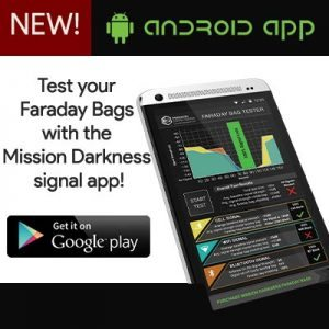 faraday bag testing app